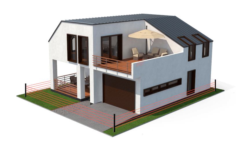 Frühwarnsystem Alarmanlage das Haus